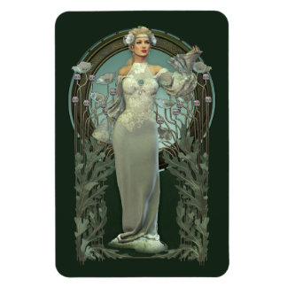 Art Nouveau White Lady (dark) Flexi Magnet