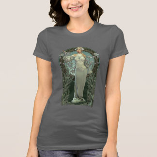 Art Nouveau White Lady Dark T-Shirt