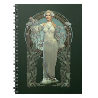Art Nouveau White Lady Notebook