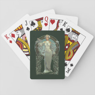 Art Nouveau White Lady Playing Cards