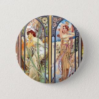 Art Nouveau Windows 2 Inch Round Button