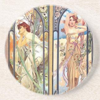 Art Nouveau Windows Coaster