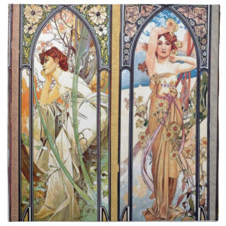Art Nouveau Windows Napkin