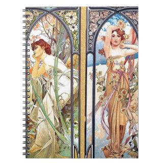 Art Nouveau Windows Notebooks