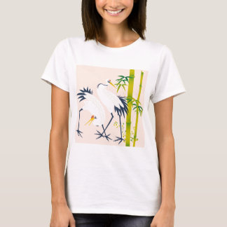 art of beautiful cranes in the bamboo thicket T-Shirt