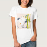 art of beautiful cranes in the bamboo thicket tshirts