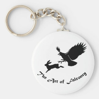 Art of Falconry - Red Tail Hawk Basic Round Button Keychain