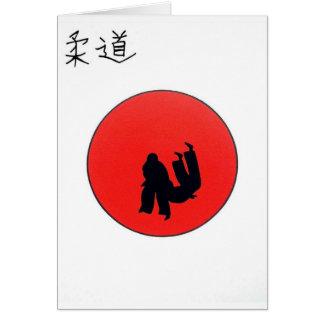 Art Of Judo Print Card