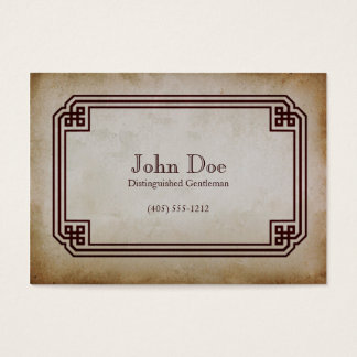 Art of Manliness Framed Calling Card