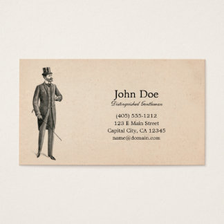 Art of Manliness Victorian Gentleman Business Card