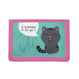 Art of Scratching Illustration Tri-fold Wallet
