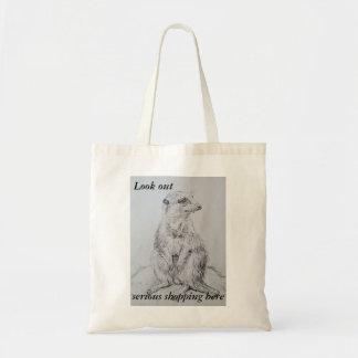 Art of shopping meerkat everyday tote bag