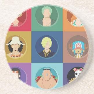 Art One Piece Straw Hats Coaster