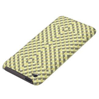 Art op d'art déco - jaune et gris coque iPod Case-Mate