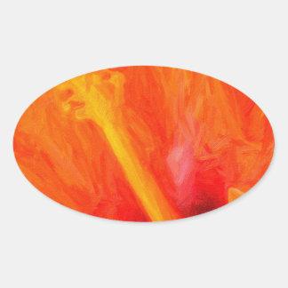 art - orange_hibiscus stickers