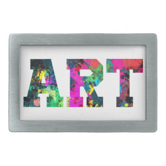Art Paint Splash Rectangular Belt Buckles