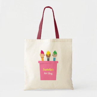 Art Paintbrushes Little Artist Girls Tote Bag