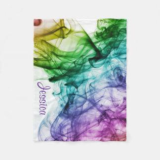 Art Paints Water Swirl w/ Name Fleece Blanket