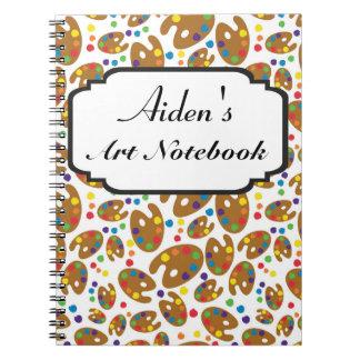 Art Pallet Notebook