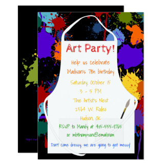 Art Party Brights Paints Card