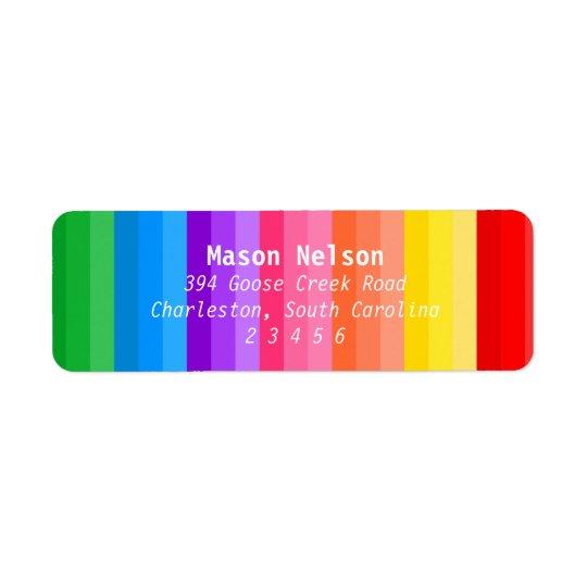 Art Party Coloured Pencils Label Return Address Label