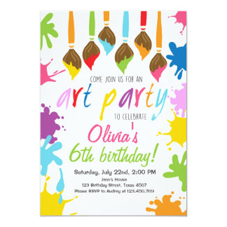 painting party invitations & announcements | zazzle canada, Party invitations