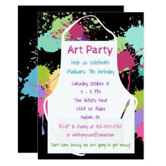 Art Party Pastel Paints Card