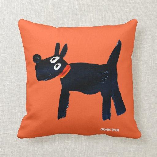 Art Pillow: John Dyer Scotty Dog
