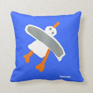 Art Pillow: John Dyer Seagull Throw Pillow