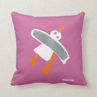 Art Pillow: John Dyer Seagull Throw Pillows