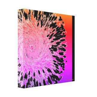"Art ""Pink Black Sun Swirl"" Canvas Print"