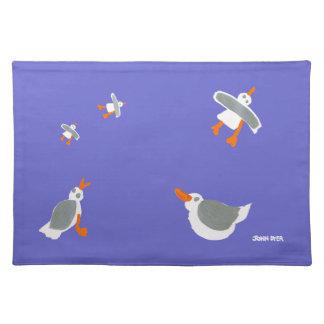 Art PlaceMat: John Dyer Seagulls, Purple
