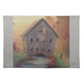 Art placemats 20x14 with old barn