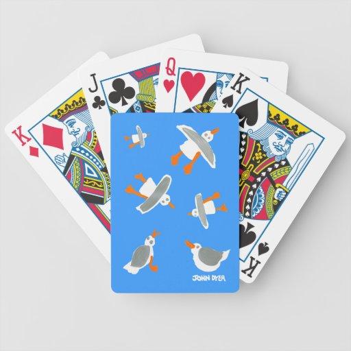 Art Playing Cards: John Dyer Seagulls Blue
