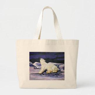Art Polar Bear Tote Bags