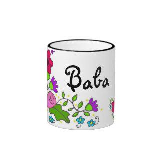 Art populaire floral d Ukrainien de motif Mugs