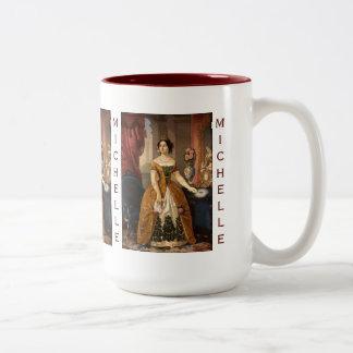Art Portrait custom monogram mugs