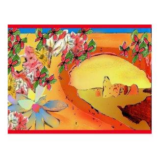Art Postcard Desert Bridge