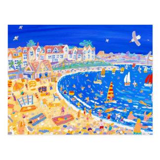 Art Postcard: Fun on the Beach. Gyllyngvase beach. Postcard