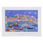 Art Poster: Boats in the Harbour, St Ives,Cornwall Poster