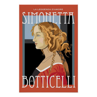 Art Poster: Botticelli Simonetta Vespuci: 16x24 Poster
