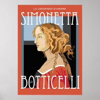Art Poster: Botticelli Simonetta Vespuci: 20x28 Poster