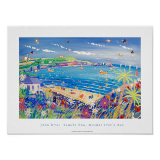 Art Poster: Family Fun, Mother Ivey's Bay Cornwall Poster