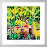 Art Poster: Jungle Bananas, Costa Rica Rainforest