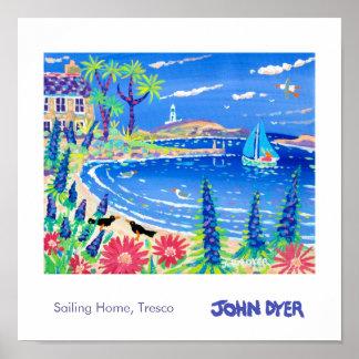 Art Poster: Sailing Home Tresco Poster