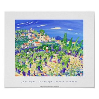 Art Poster: The Grape Harvest, Provence, Rastteau Poster