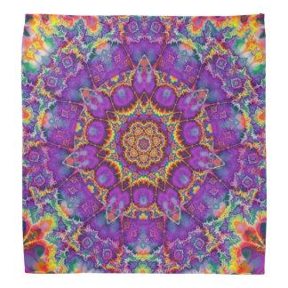 Art pourpre de kaléidoscope d'arc-en-ciel de fleur foulards