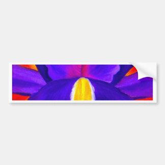 Art pourpre de peinture de fleur d'iris - multi autocollant de voiture
