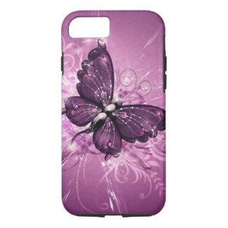 art pourpre de vecteur de papillon coque iPhone 7