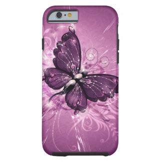 art pourpre de vecteur de papillon coque tough iPhone 6